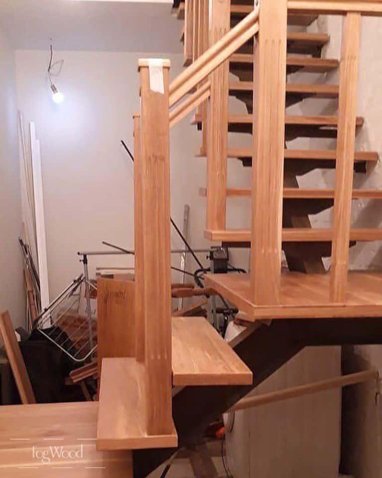 Лестница с первого на третий этаж на заказ