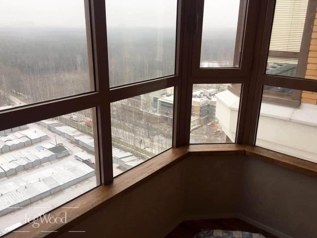 Подоконник на балкон с тонировкой на заказ