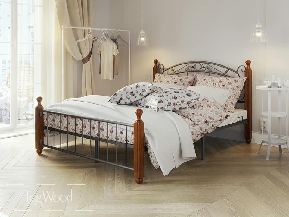 Кровать из массива дерева «Модель 1» по индивидуальным размерам