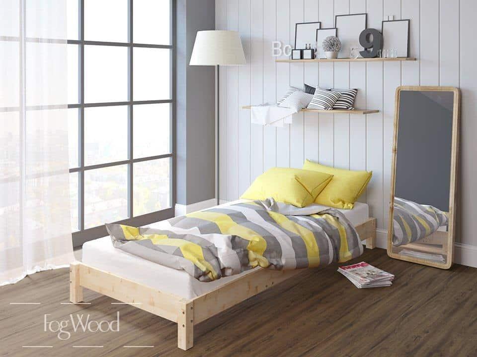 Кровать из массива дерева «Модель 11» по индивидуальным размерам