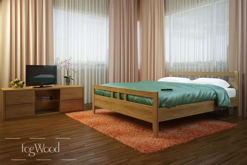 Кровать из массива дерева «Модель 12» по индивидуальным размерам
