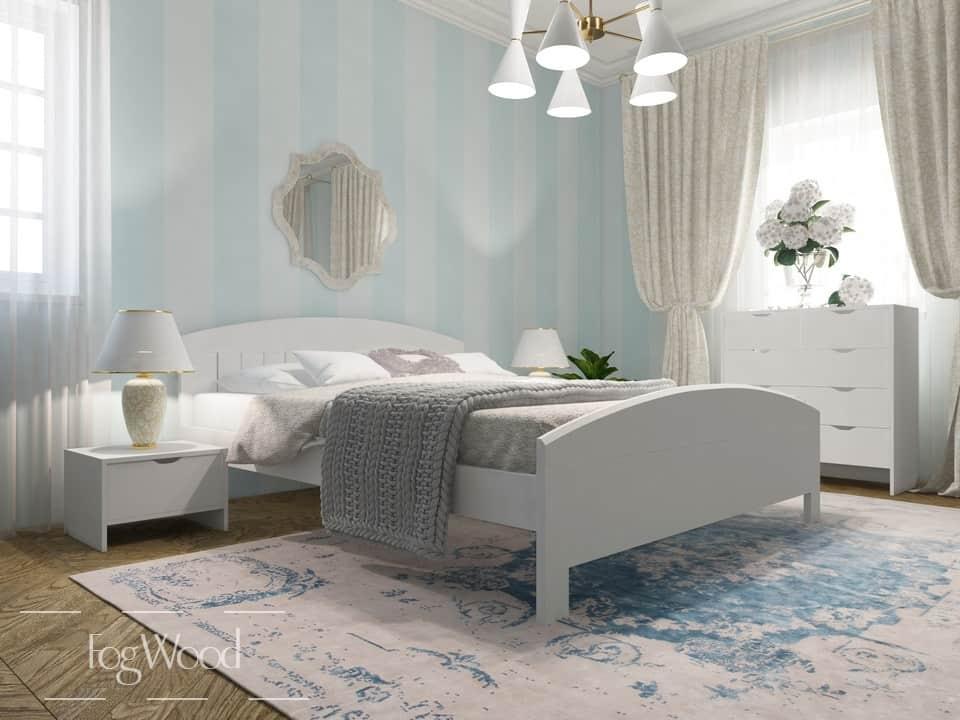 Кровать из массива дерева «Модель 2» по индивидуальным размерам