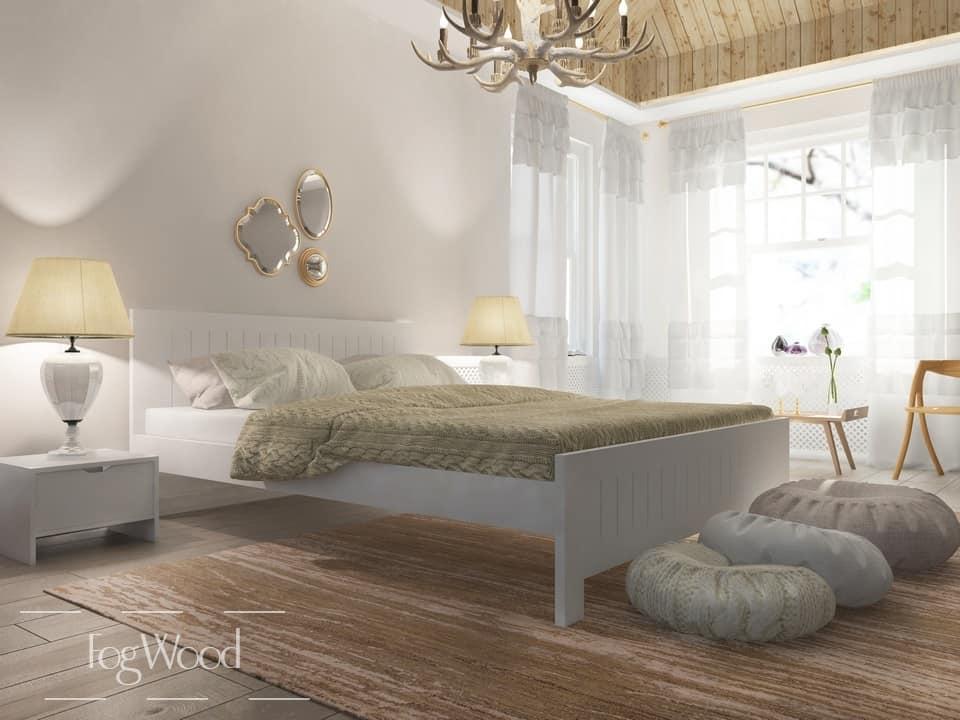 Кровать из массива дерева «Модель 3» по индивидуальным размерам