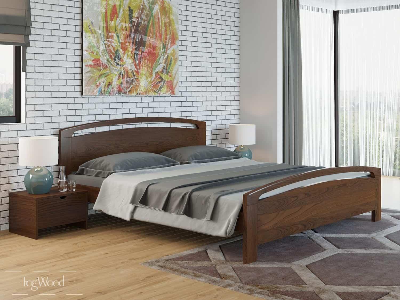 Кровать из массива дерева «Модель 4» по индивидуальным размерам