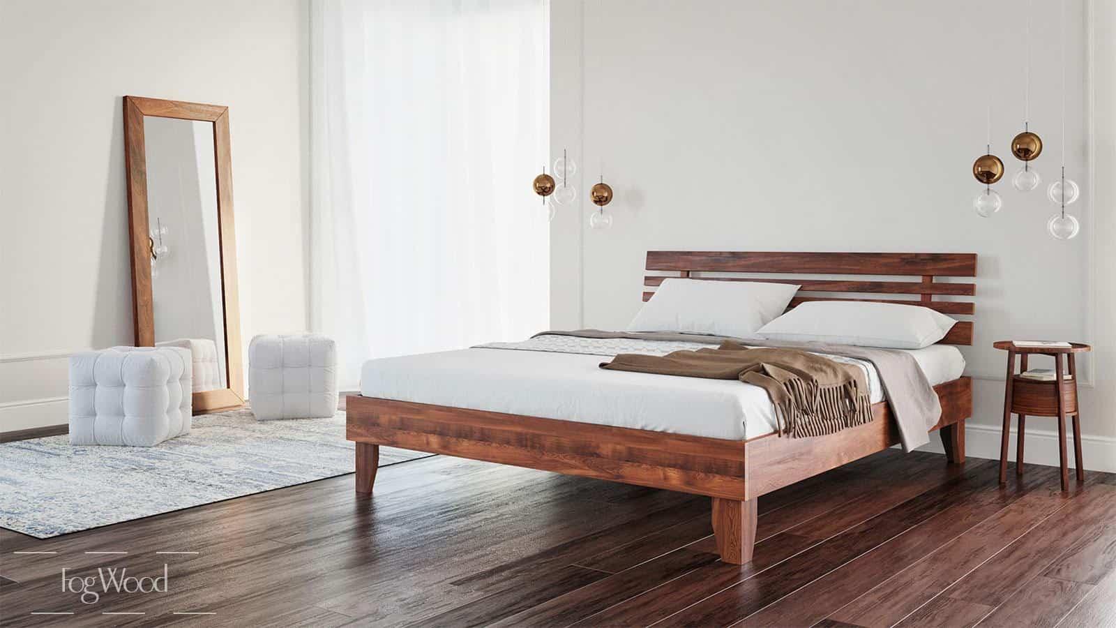 Кровать из массива дерева «Модель 5» по индивидуальным размерам