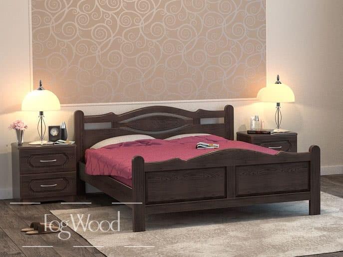 Кровать из массива дерева «Модель 6» по индивидуальным размерам