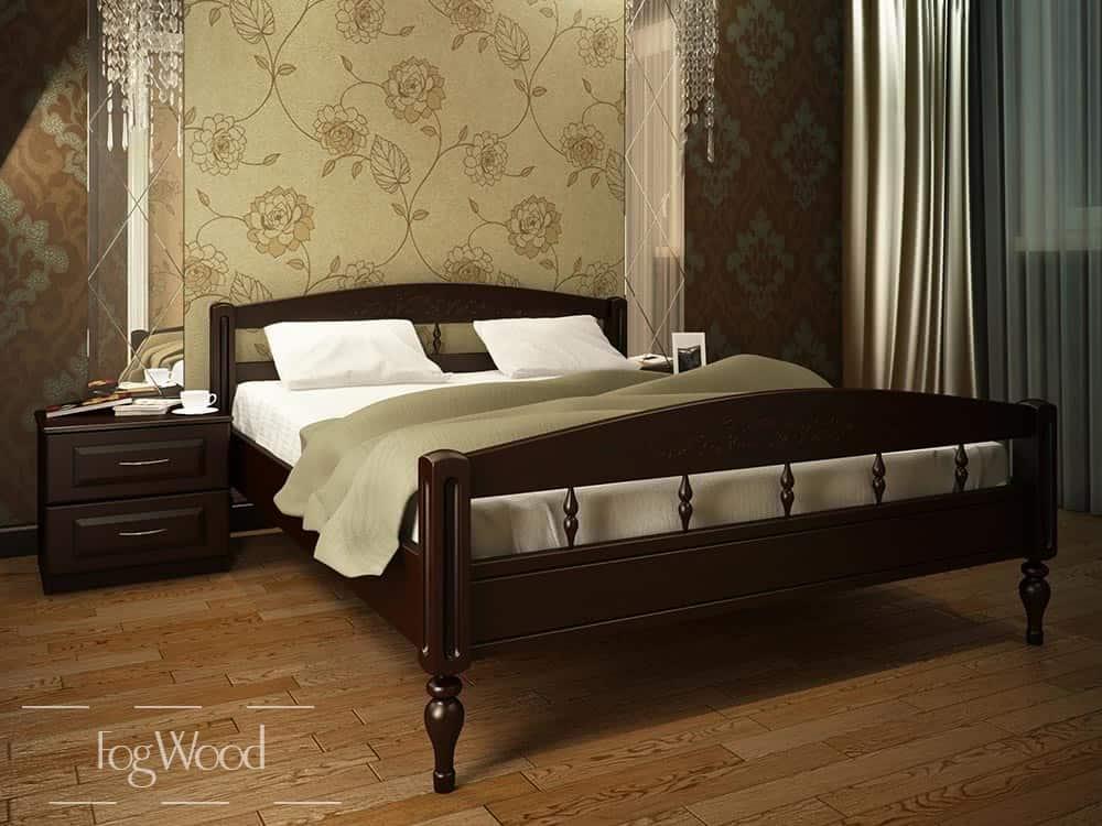 Кровать из массива дерева «Модель 7» по индивидуальным размерам