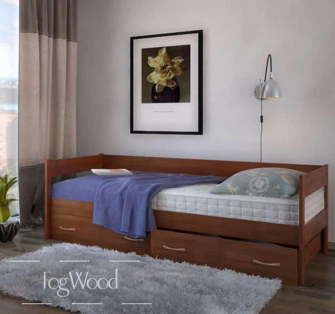 Кровать из массива дерева «Модель 8» по индивидуальным размерам