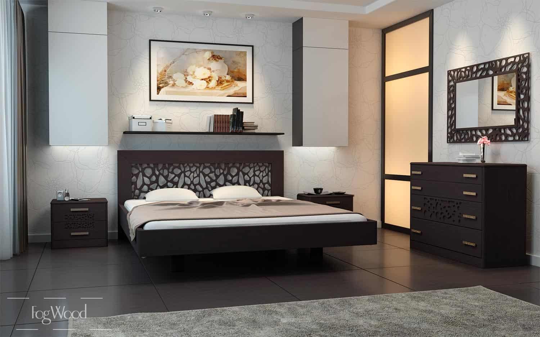 Кровать из массива дерева «Модель 9» по индивидуальным размерам