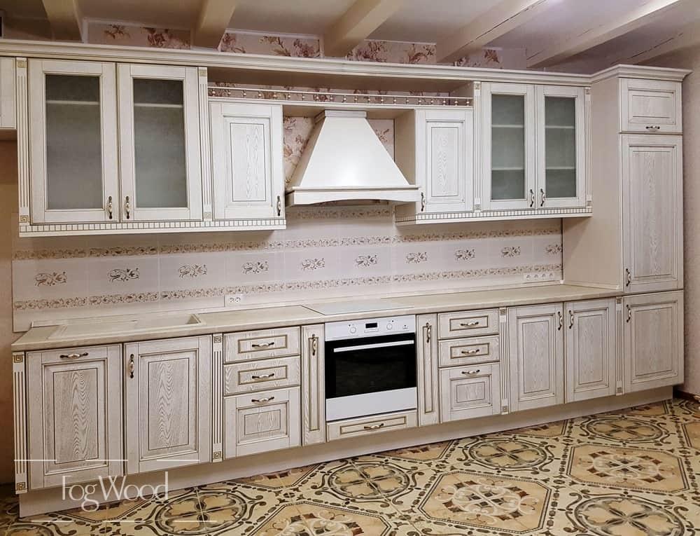 Кухня из массива дерева «Модель 12» по индивидуальным размерам