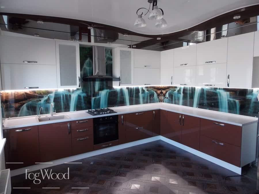 Кухня из массива дерева «Модель 3» по индивидуальным размерам
