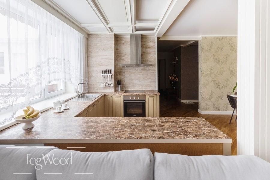 Кухня из массива дерева «Модель 8» по индивидуальным размерам