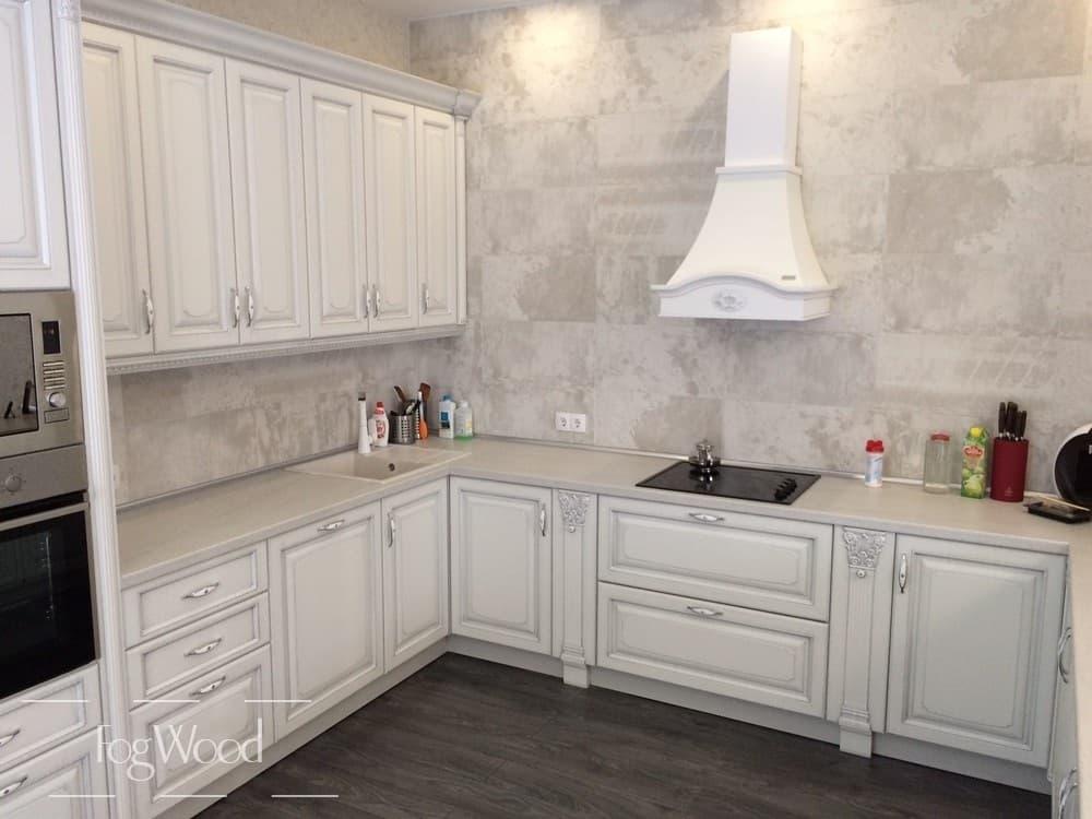 Кухня из массива дерева «Модель 9» по индивидуальным размерам