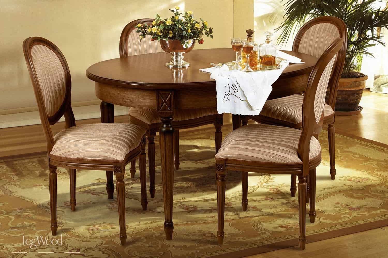 Стол и стулья из массива дерева «Модель 1» по индивидуальным размерам