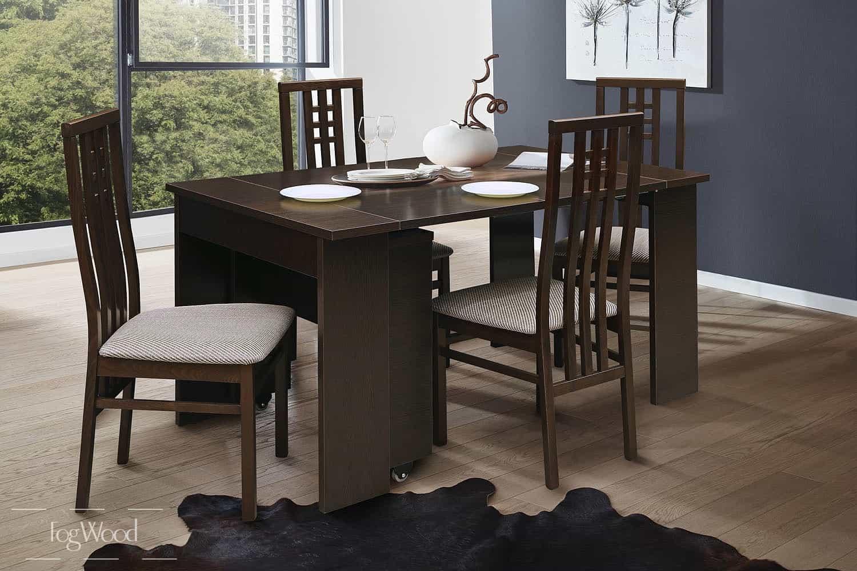 Стол и стулья из массива дерева «Модель 10» по индивидуальным размерам