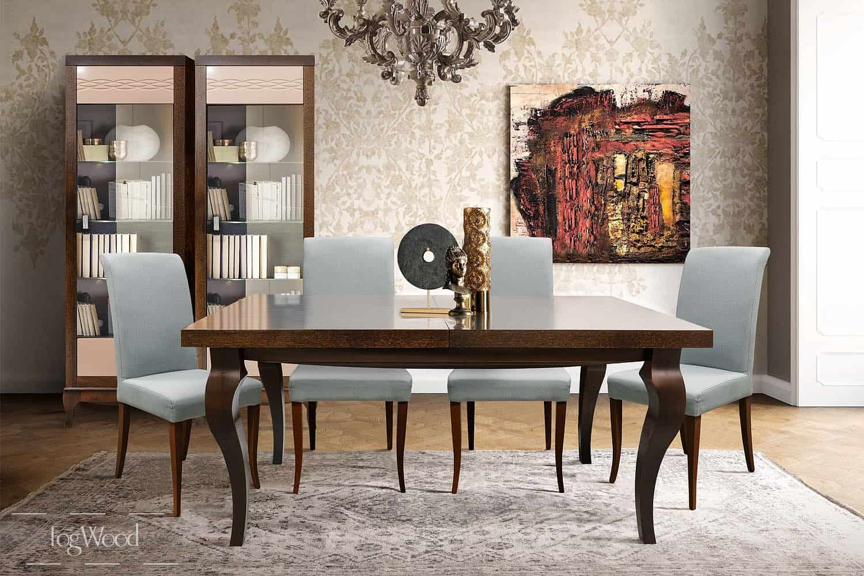 Стол и стулья из массива дерева «Модель 11» по индивидуальным размерам
