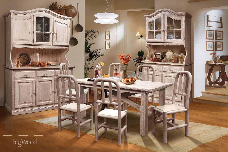 Стол и стулья из массива дерева «Модель 12» по индивидуальным размерам