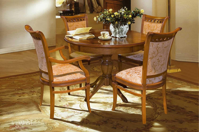 Стол и стулья из массива дерева «Модель 2» по индивидуальным размерам