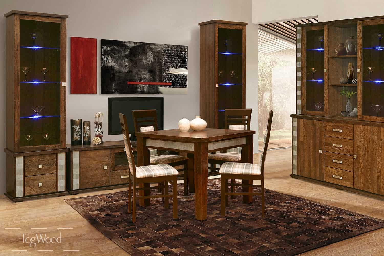 Стол и стулья из массива дерева «Модель 3» по индивидуальным размерам