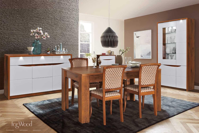 Стол и стулья из массива дерева «Модель 4» по индивидуальным размерам
