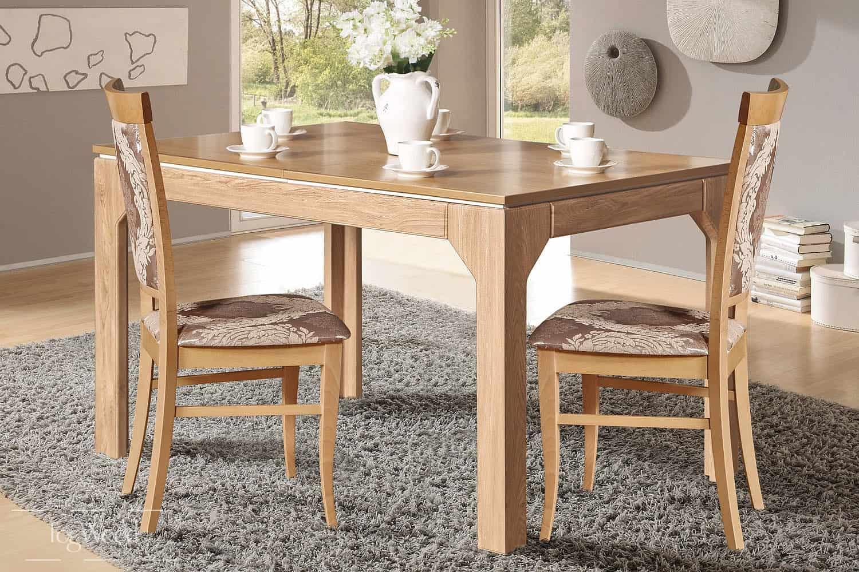 Стол и стулья из массива дерева «Модель 5» по индивидуальным размерам