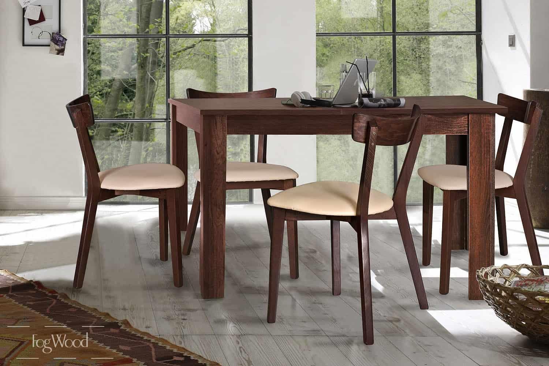 Стол и стулья из массива дерева «Модель 8» по индивидуальным размерам