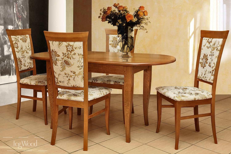 Стол и стулья из массива дерева «Модель 9» по индивидуальным размерам