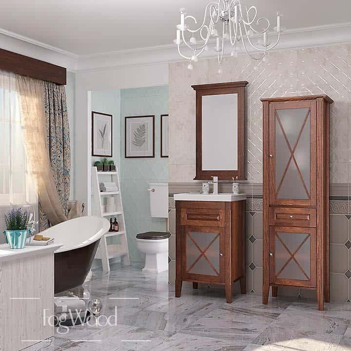 Мебель для ванной из массива дерева «Модель 1» по индивидуальным размерам