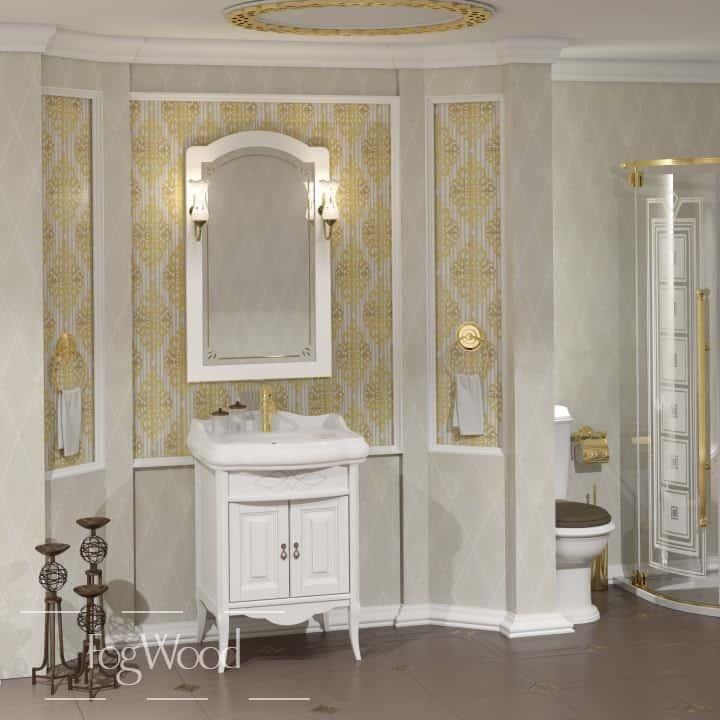 Мебель для ванной из массива дерева «Модель 10» по индивидуальным размерам