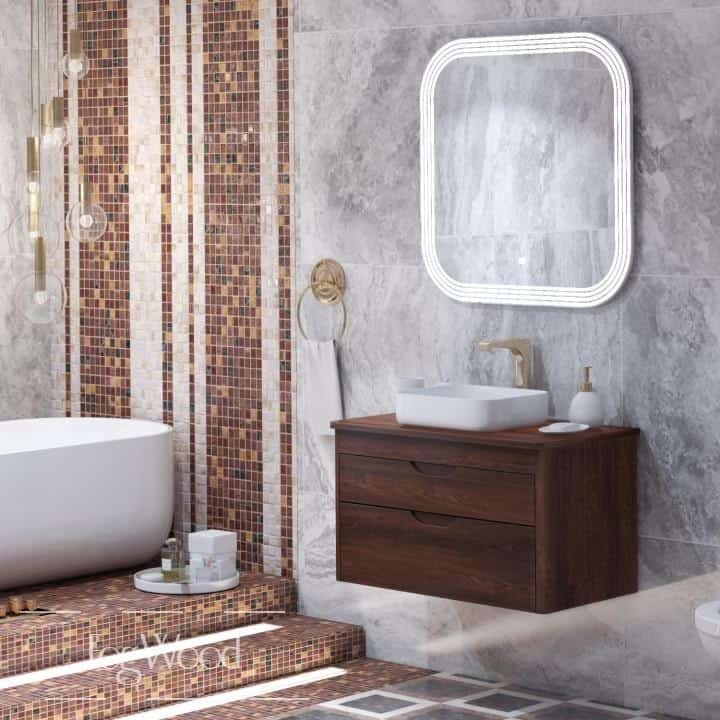 Мебель для ванной из массива дерева «Модель 12» по индивидуальным размерам