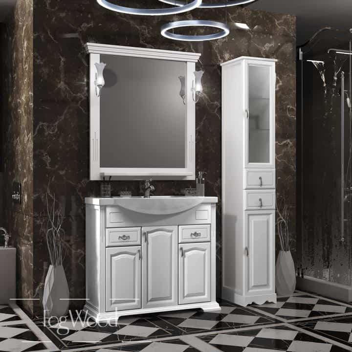 Мебель для ванной из массива дерева «Модель 3» по индивидуальным размерам