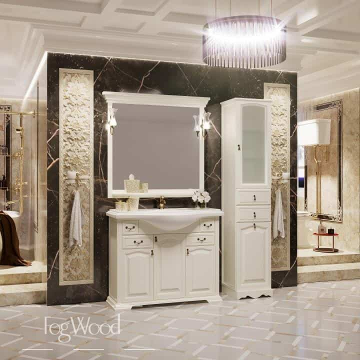 Мебель для ванной из массива дерева «Модель 4» по индивидуальным размерам