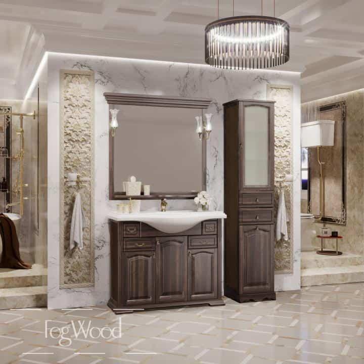 Мебель для ванной из массива дерева «Модель 5» по индивидуальным размерам