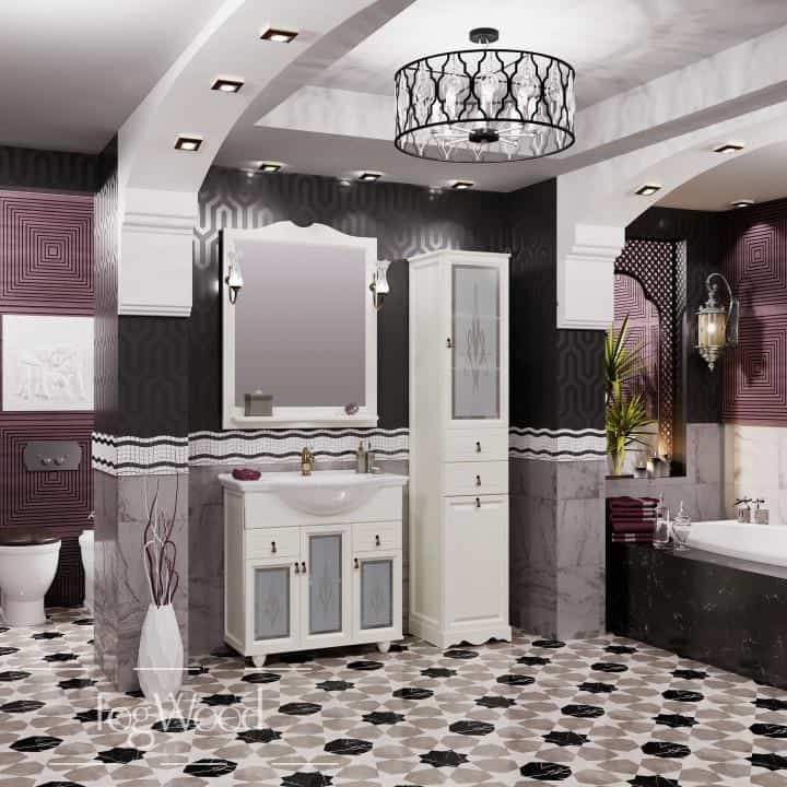 Мебель для ванной из массива дерева «Модель 6» по индивидуальным размерам