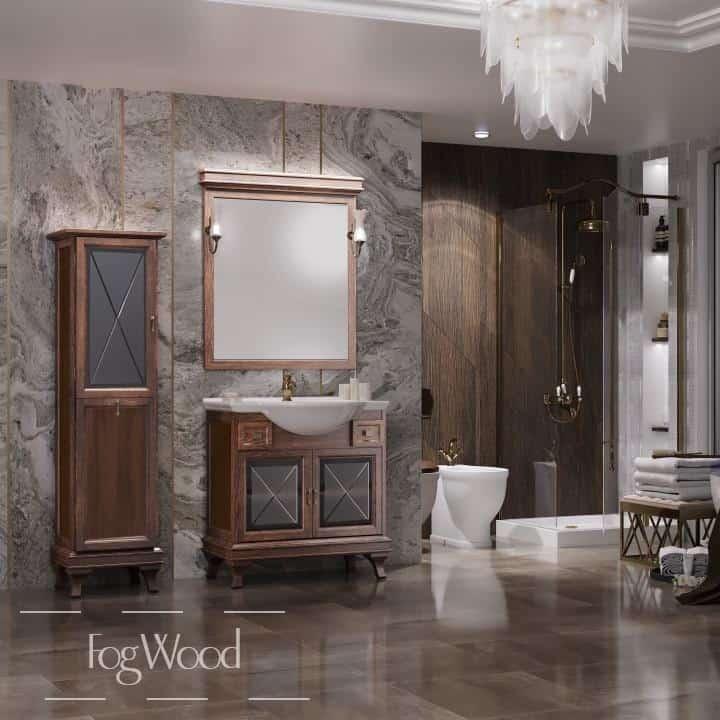 Мебель для ванной из массива дерева «Модель 7» по индивидуальным размерам