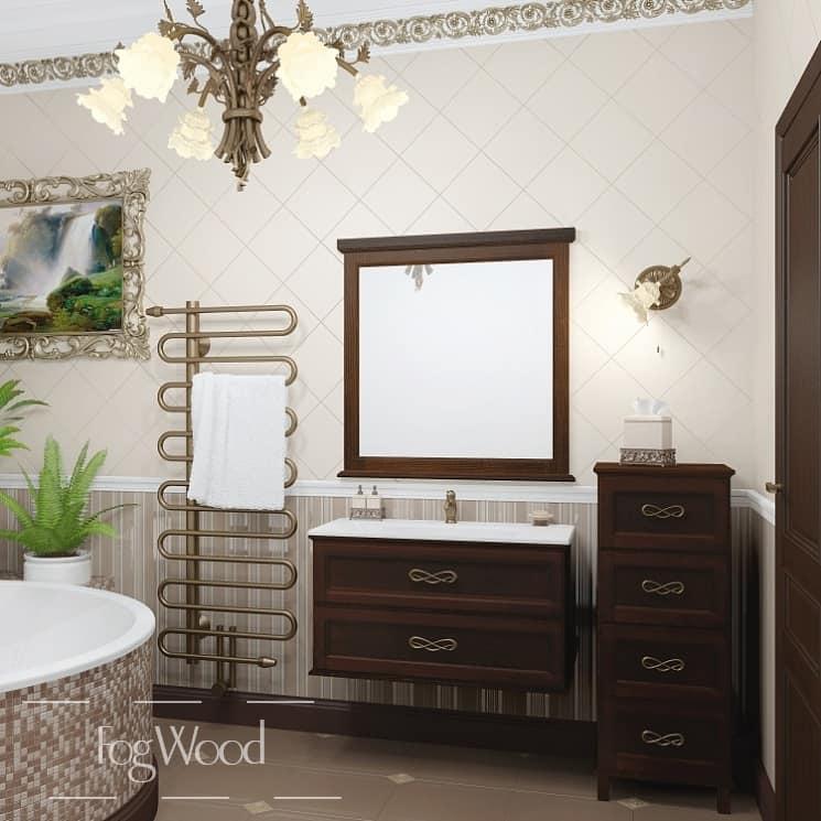 Мебель для ванной из массива дерева «Модель 8» по индивидуальным размерам