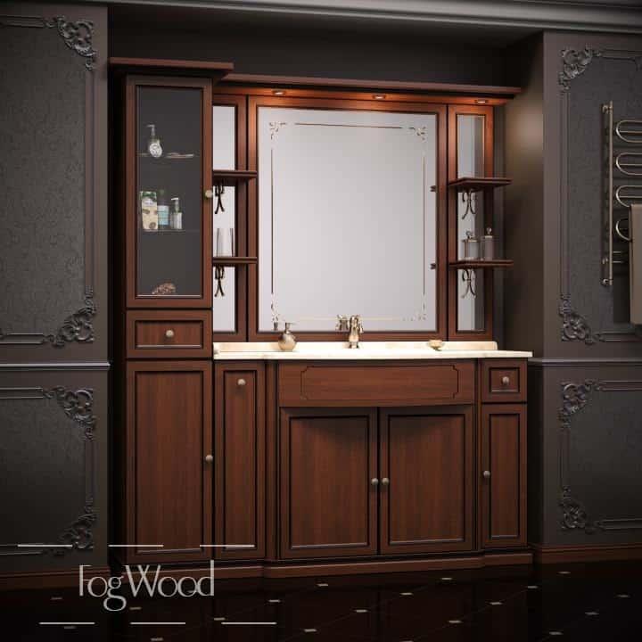 Мебель для ванной из массива дерева «Модель 9» по индивидуальным размерам