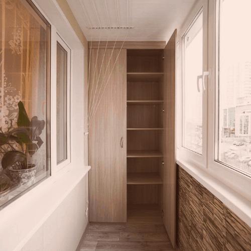 Шкафы На балкон - на заказ в Санкт-Петербурге