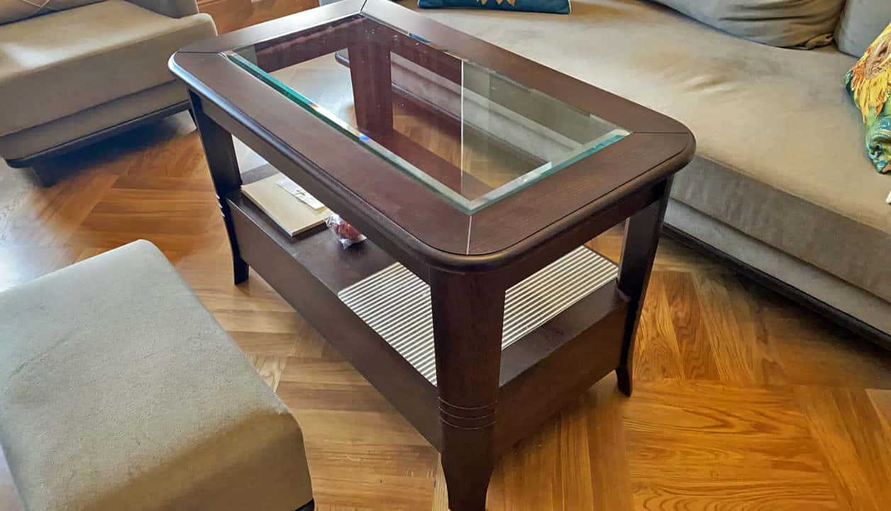 Стол из массива бука с выдвижным ящиком, цвет венге на заказ